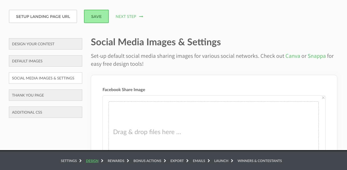 How do I change the Facebook / Twitter / social media share